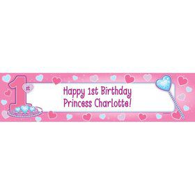 First Birthday Princess Personalized Banner (each)