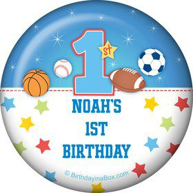 First Birthday Sport Star Personalized Magnet (each)