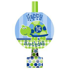 First Birthday Turtle Blowouts (8-pack)