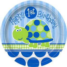 First Birthday Turtle Cake Plates (8-pack)