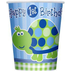 First Birthday Turtle Cups (8-pack)