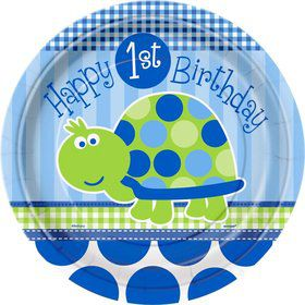 First Birthday Turtle Dinner Plates (8-pack)