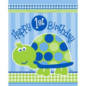 First Birthday Turtle Loot Bags (8-pack)