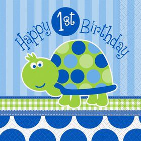 First Birthday Turtle Luncheon Napkins (16-pack)