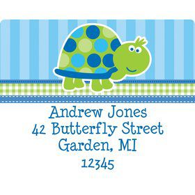 First Birthday Turtle Personalized Address Labels (sheet of 15)
