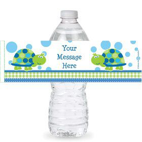 First Birthday Turtle Personalized Bottle Labels (Sheet of 4)