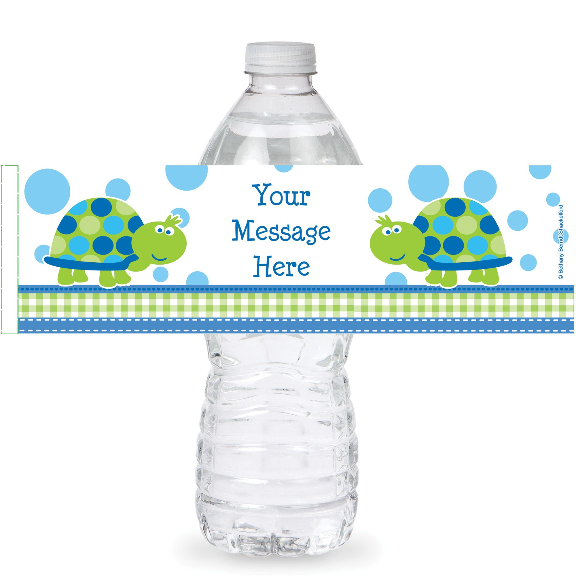 First Birthday Turtle Personalized Bottle Labels (Sheet of 4) - Party Supplies BB101686BL