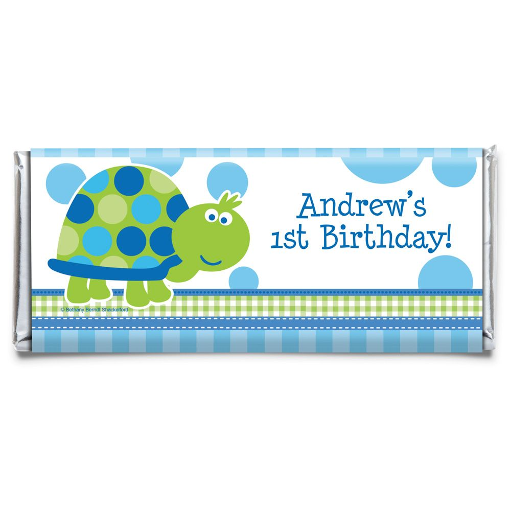 First Birthday Turtle Personalized Candy Bar Wrapper (Each) BB101686CB