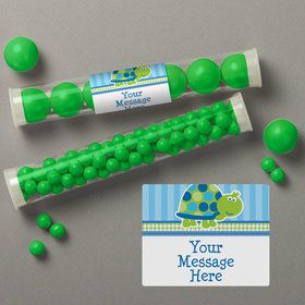 First Birthday Turtle Personalized Candy Tubes (12 Count)