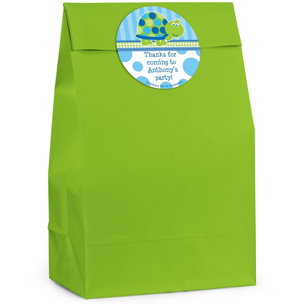First Birthday Turtle Personalized Favor Bag (Set Of 12) BB128FB