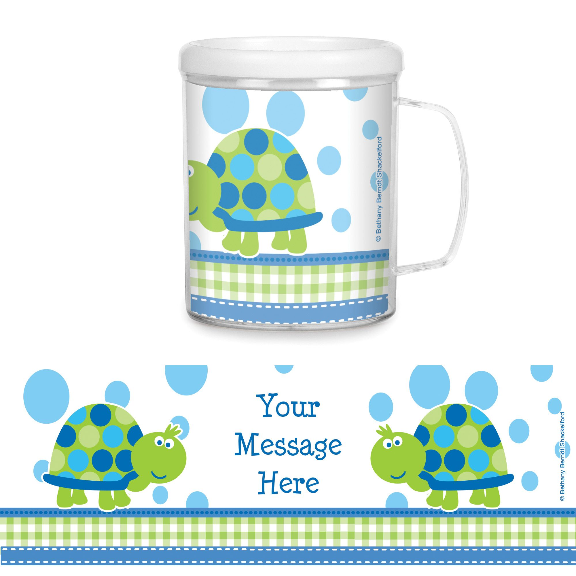 First Birthday Turtle Personalized Favor Mugs (Each) BB101686CUP