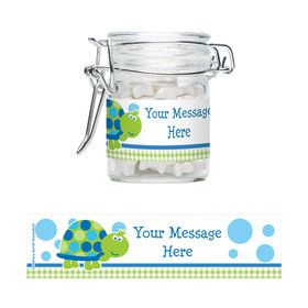 First Birthday Turtle Personalized Glass Apothecary Jars (10 Count)