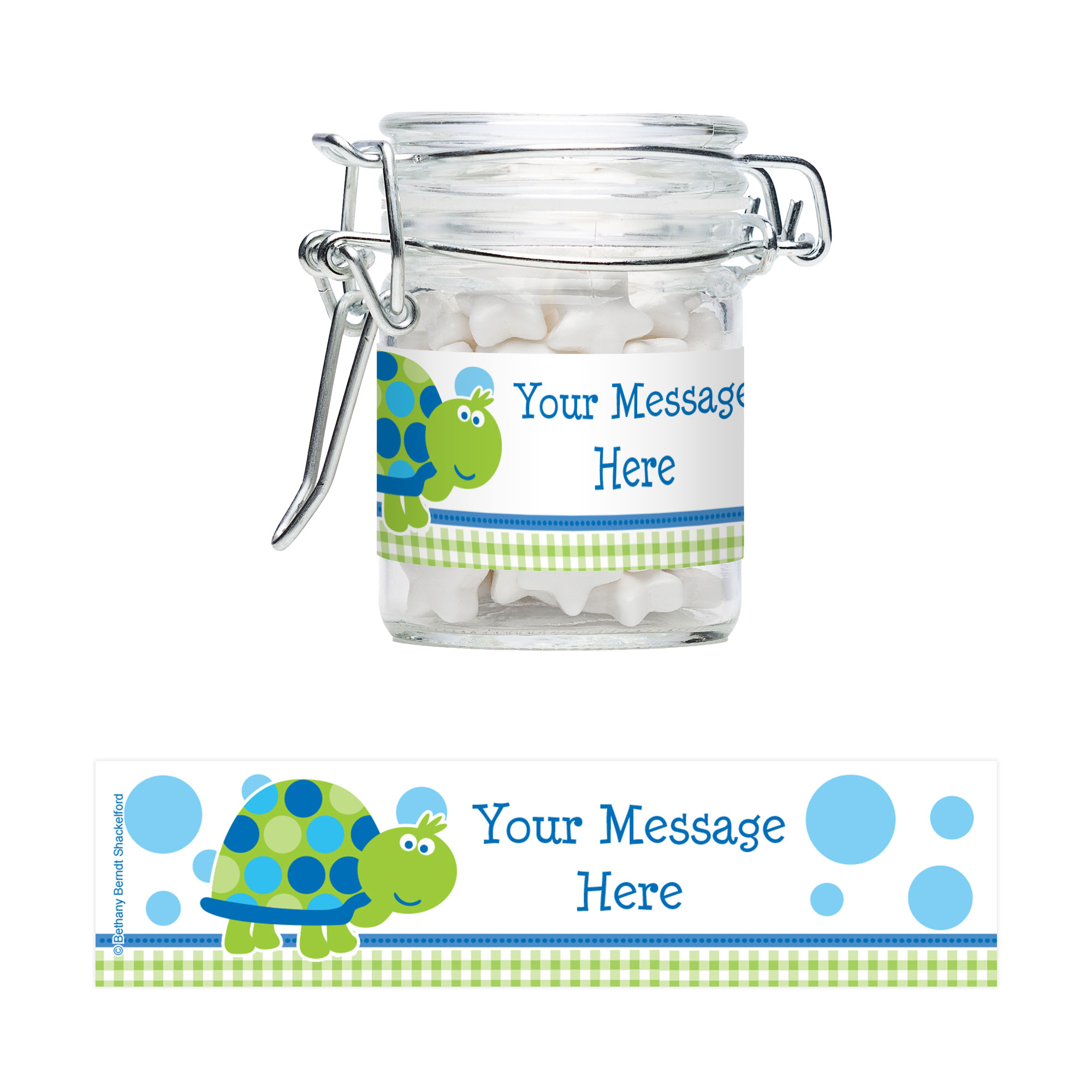 First Birthday Turtle Personalized Glass Apothecary Jars (10 Count) BB101686AJ