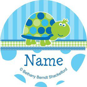 First Birthday Turtle Personalized Mini Stickers (Sheet of 20)
