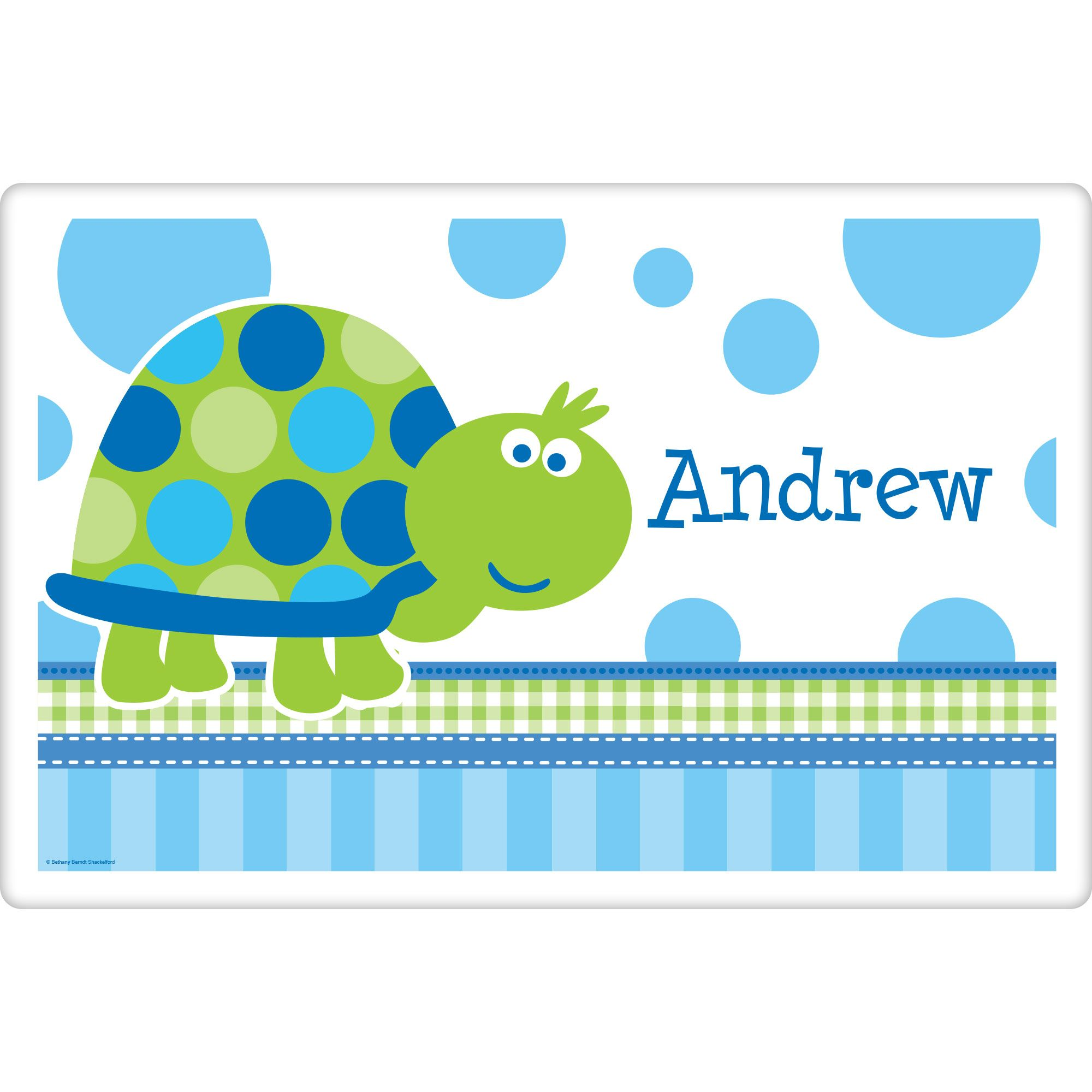 First Birthday Turtle Personalized Placemat (Each) BB101694