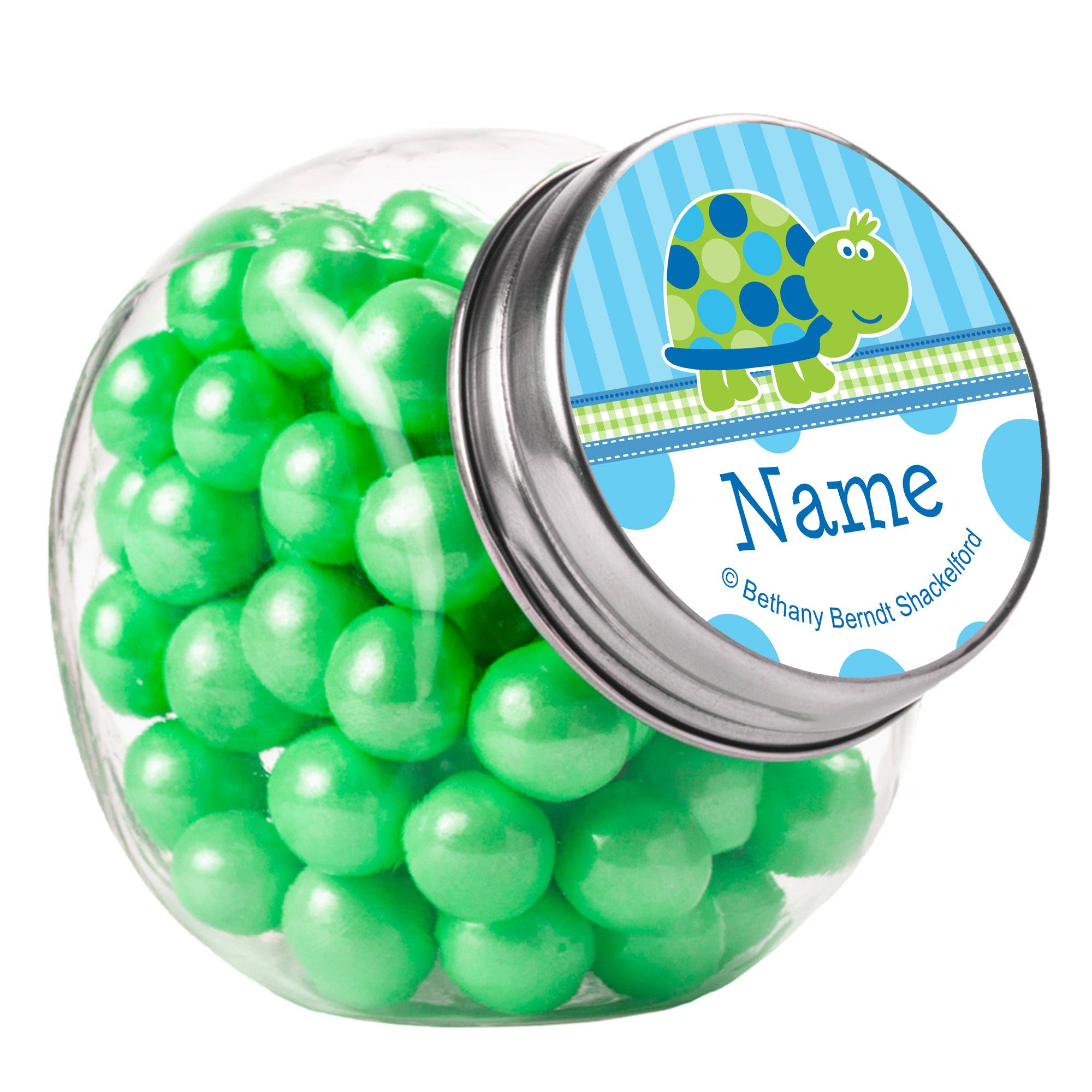 First Birthday Turtle Personalized Plain Glass Jars (10 Count) BB101686PGJ