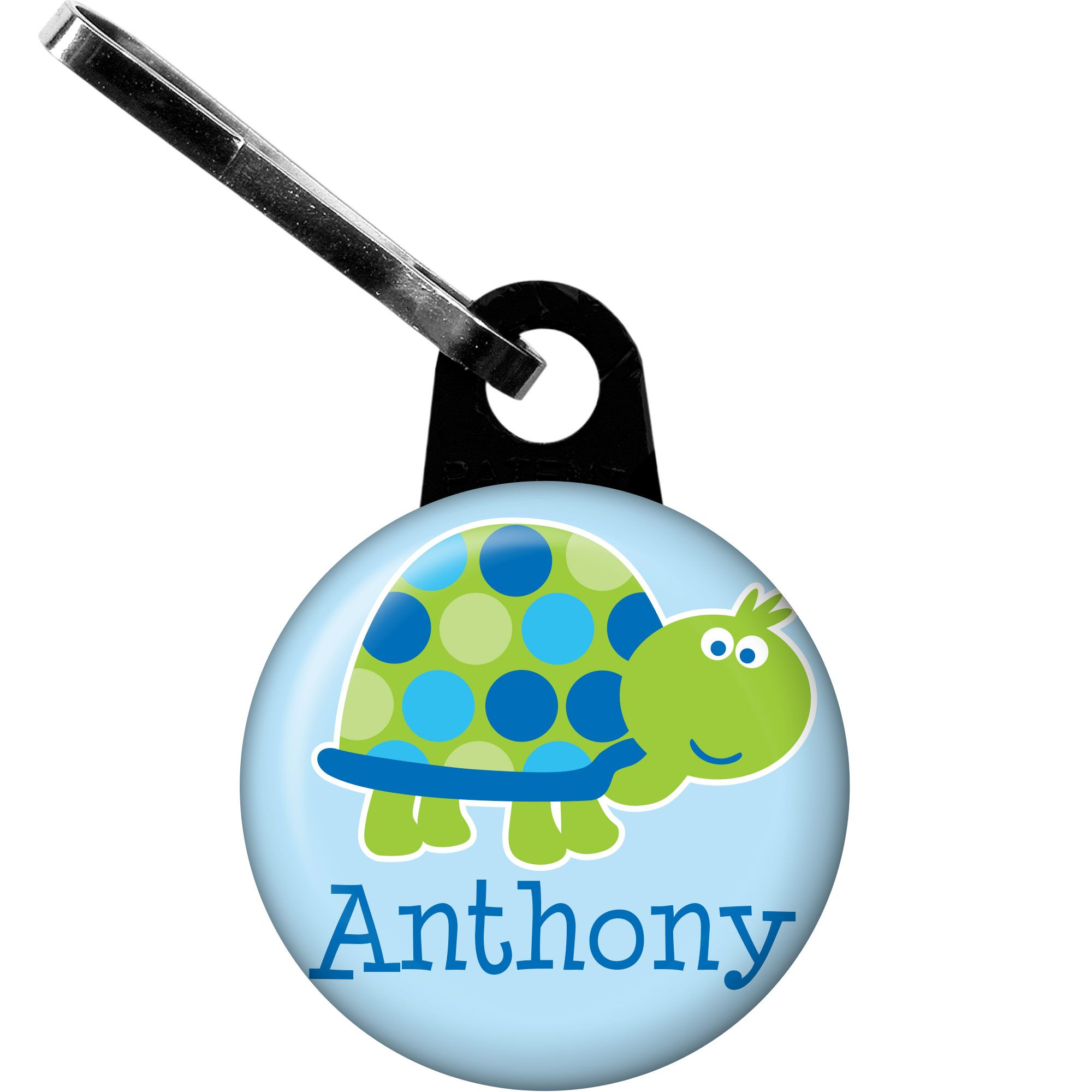 First Birthday Turtle Personalized Zipper Pull (Each) BB101696
