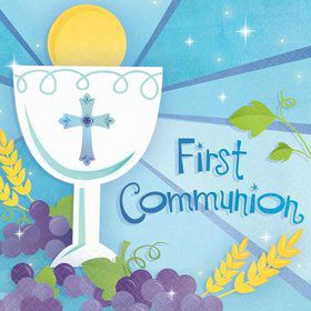 First Communion Boy Luncheon Napkins (36 Pack)