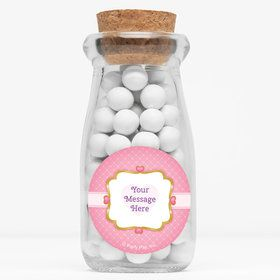 "First Princess Personalized 4"" Glass Milk Jars (Set of 12)"