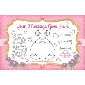 First Princess Personalized Activity Mat (8 Count)