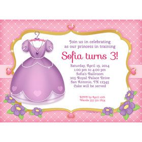 First Princess Personalized Invitation (Each)