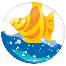 "Fish Inflatable 11"" Beach Ball (Each)"