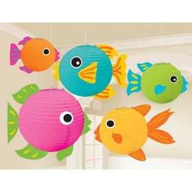 Fish Lanterns w/ Add-Ons Decorations (5 Pack)