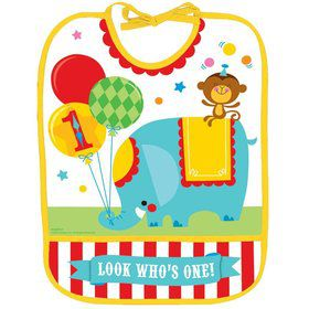 Fisher Price 1st Birthday Circus Baby Bib (Each)