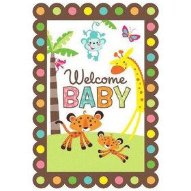 Fisher Price Baby Shower Folded Invitation (8 Pack)