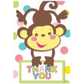 Fisher Price Baby Shower Folded Thank You Cards (8 Pack)