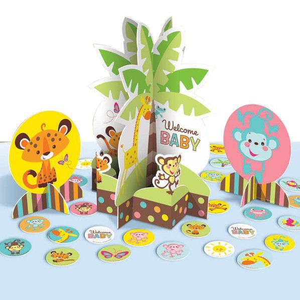 fisher price baby shower table decorating kit party decorations