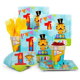 Fisher Price Circus Standard Birthday Party Tableware Kit Serves 8