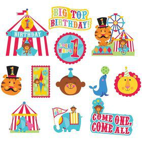 Fisher Price Circus Value Pack Paper Cutouts (each)