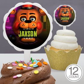 Five Nights at Freddy's Personalized Cupcake Picks (12 Count)