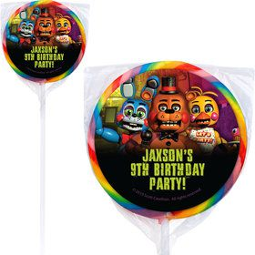 Five Nights at Freddy's Personalized Lollipops (12 Pack)