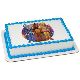 Five Nights At Freddys Quarter Sheet Edible Cake Topper (Each)