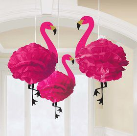 Flamingo Fluffy Tissue Hanging Decorations