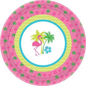 "Flamingo Fun 10.5"" Luncheon Plates (8 Pack)"