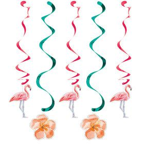 Flamingo Hanging Decorations (5 Count)