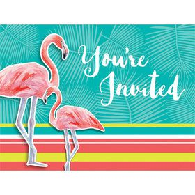 Flamingo Invitations (8 Count)