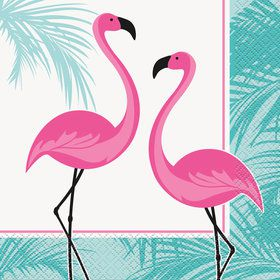Flamingo Lunch Napkins (16 Count)