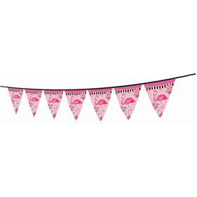 Flamingo Paper Pennant Banner