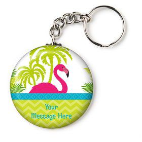 "Flamingo Personalized 2.25"" Key Chain (Each)"