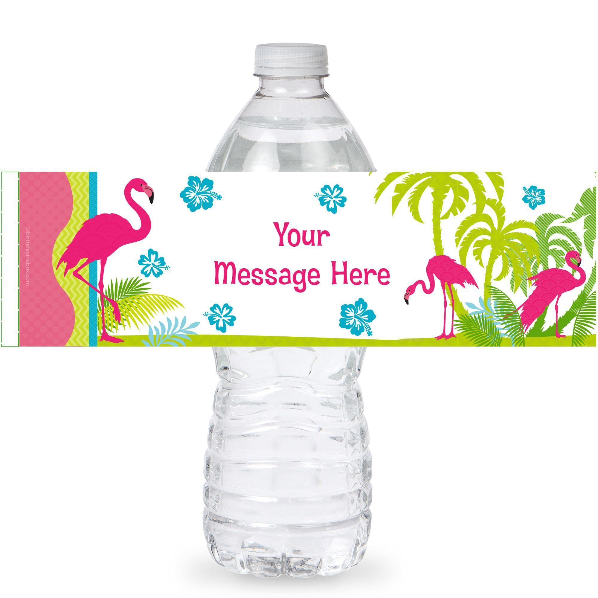 Flamingo Bottle Label Water Bottles Party Supplies