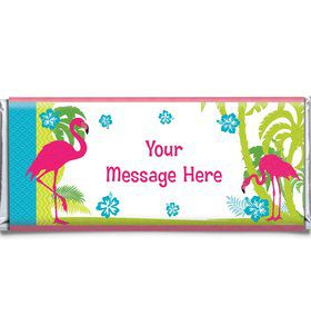 Flamingo Personalized Candy Bar Wrapper (Each)