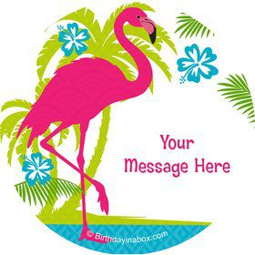Flamingo Personalized Stickers (Sheet of 12)