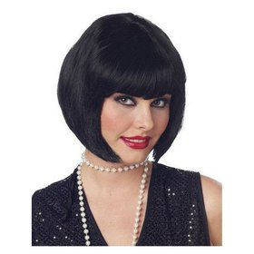 Flapper Wig Black Adult