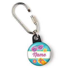 "Flip Flop Fun Personalized 1"" Carabiner (Each)"