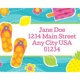 Flip Flop Fun Personalized Address Labels (Sheet of 15)