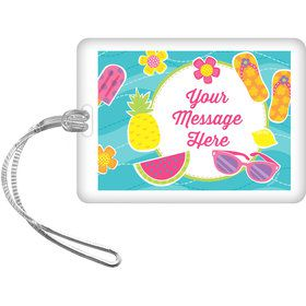 Flip Flop Fun Personalized Bag Tag (Each)